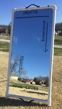 Golf Swing Trainer Aid 2'x4' Golf Mirror Folds -- Writeable surface