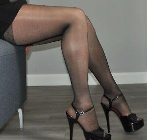 Black Patent Extreme Stiletto Peep Toe Platform Heels UK 10 Drag X Dress