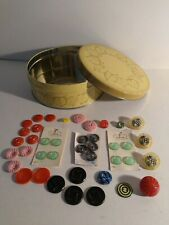 New listing Vtg Lot Of Sewing Buttons W / Candy Tin 40 Total