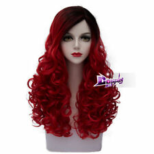 60cm Multicolours Long Curly Hair Lolita Women Ombre Synthetic Cosplay Wig + Cap