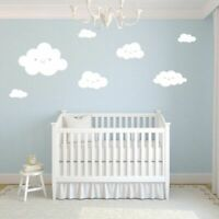 Smiley Clouds Wall Decals Vinyl Wall Stickers For Kids Room Glass Decoration