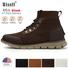 Men High Top Knit Athletic Breathable Running Outdoor Shoes Sneakers Boot Casual