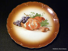 "PETRUS REGOUT DECORATIVE PLATE 9.5"" ORANGE GRAPES MADE IN MAASTRICHT HOLLAND ."
