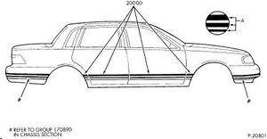 88-89 Mercury Topaz Stripe Kit Dark Silver NOS E86Y-5420000-AP