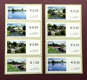 IRELAND 2008 - WATERWAYS - SELF ADHESIVE SOAR LABELS SET (8) - MINT NEVER HINGED