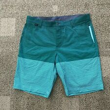 Mens Nike Golf Modern Fit Flat Front Shorts Green Stripe Size 34 803043-466