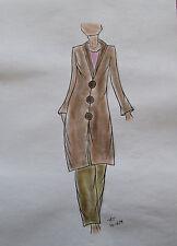 ORIGINAL MODEZEICHNUNG Modeskizze Damen fashion sketches 10-659