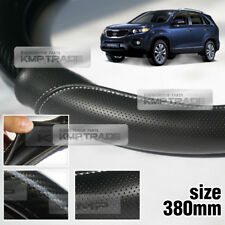 Carbon Steering Wheel Cover Glossy Urethane 380mm for KIA 2010 - 2012 Sorento R