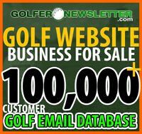 Golf Website Business & Golfing Email List Database For Sale - Over 100K Golfers