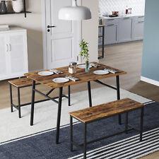 VASAGLE Esszimmertisch Retro Küchentisch Esstisch Schreibtisch Sitzbänke stabil
