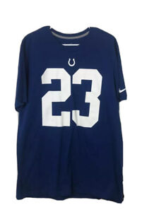 Indianapolis Colts Frank Gore 23 Nike Mens T-Shirt Blue Regular Fit Tee XL New