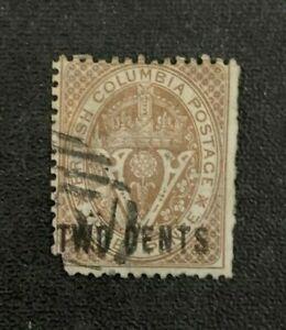 British Columbia Stamp #8 Used/Dam