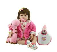 22'' Handmade Reborn Baby Dolls Girl Soft Silicone Vinyl Newborn Doll with toys