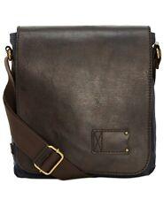 $460 Patricia Nash Mens Brown Blue Leather Messenger Shoulder Crossbody Work Bag