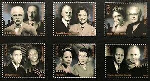 2009 Scott #4384a-f - 42¢ - CIVIL RIGHTS PIONEERS - Set of 6 Singles - Mint NH