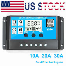 New listing 30A Pwm Solar Controller Solar Regulator Dual Usb 12v/24v Auto Lcd