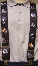 "Suspenders 2""x48"" FULLY Elastic Animal Domestic Cats NEW"
