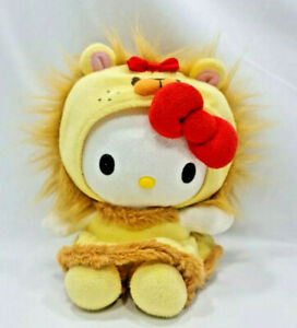 "Hello Kitty Wizard Of Oz Lion Plush 8"" Transforms Super Cute Fluffy Collectable"