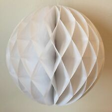 "WHITE 12 MIXED SIZES (4"",6"",8"",10"") PAPER HONEYCOMB WEDDING PARTY DECORATIONS"