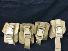 EUC - LOT OF 4  Eagle Industries Coyote Brown Multi-Purpose Small Single Pouch