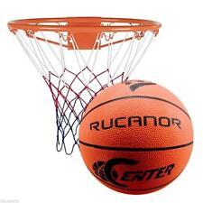 RUCANOR NBA BASKETBALL SET RING HOOP NET WITH WALL MOUNTING BRACKET
