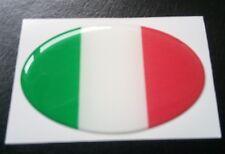 Italy Flag Resin 3D Domed Italian Car Sticker self adhesive weatherproof