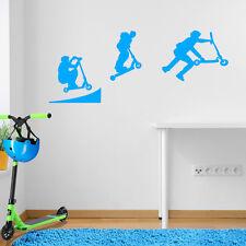 Stunt Scooter Rampe Sprung Kinder Straße Ride DIY Wand Sticker Aufkleber A107