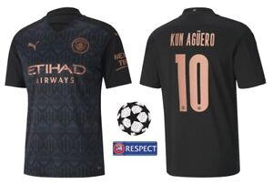 Trikot Puma Manchester City 2020-2021 Away - Kun Aguero 10 I Champions League