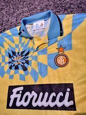 Maglia shirt Inter 1992/93 Gialla Umbro autografata.