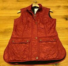 Barbour Wray Fleece Lined Gilet Size UK 10 Deep Claret/Navy New & Tagged RRP £95