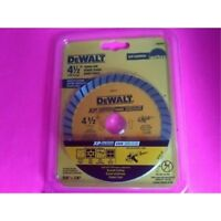 "DeWalt-Industrial4-1/2"" Dry or Wet Cutting Continuous Rim Diamond Saw Blade,7/8"""