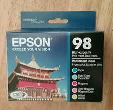 5pk Genuine Epson 98 Color High-capacity Ink_T098920_Artisan 700 710 725 835 810