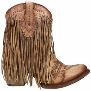 Corral Boots C3367 Embroidery & Studs & Fringe   Womens  Boots   Ankle Mid Heel