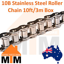 """INDUSTRIAL ROLLER CHAIN 10B- 5/8"""" PITCH Stainless Steel 10Ft 3m Box 10B"""