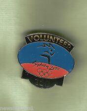 #D42.  SYDNEY  2000 OLYMPIC  GAMES  VOLUNTEER  LAPEL  BADGE