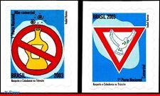 2893-94 BRAZIL 2003 TRAFFIC SAFETY, BIRDS, DRINKS, MI# 3320-21, SET MNH