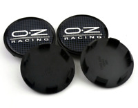 4 x 63mm OZ Racing M595 Schwarz Grau ABS Nabenkappen Nabendeckel Satz