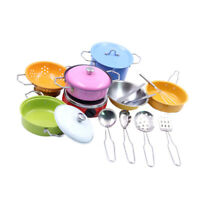 17pcs/Set Kid Toy Play Kitchen Utensils Cooking Pots Food Dishes Cookware