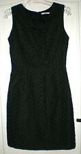 Jolie robe noir tissu relief MANOUKIAN T S TBE