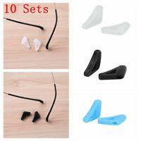 10 Sets Silicone Anti-Slip Holder Ear Hook Eye Glasses Frame Legs Retainer Sport