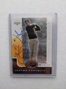 2001 Upper Deck e-volve Auto Jesper Parnevik 064/100 Golf Card