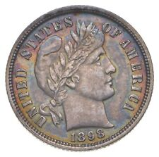 New listing 10c Crisp - 1898 Barber Dime - Stunning Detail! - Look it Up! *174