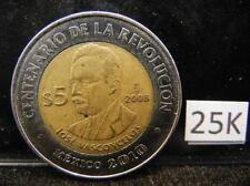 2008 5 Peso Bicentenario De La Independencia Jose Vasconcelos Lot 25K