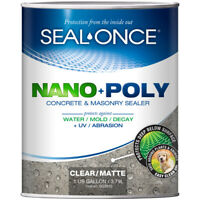 Seal-Once Nano+Poly Matte Clear Water-Based Concrete And Masonry Sealer 1 Gal.