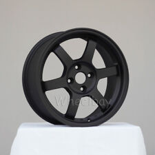 4 ROTA WHEEL GRID 16X7 +40  4X100 FLAT BLACK CIVIC  INTEGRA VW XA XB FIT DELSOL