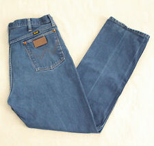 Vintage 80s WRANGLER Mens Jeans 38x32 USA Made Zip Fly Straight Leg Classic Fit