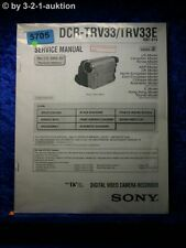 Sony Service Manual DCR TRV33 /TRV33E Level 2 Digital Camera (#5705)