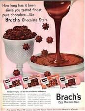 1960 Brach's Candy Bridge-Peanut Cluster-Chocolate Stars- Peanuts Decor PRINT AD
