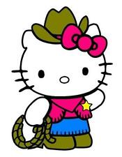 HELLO KITTY COWGIRL DECAL STICKER **FREE SHIPPING**