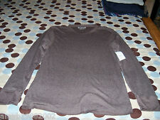 Rue 21 Carbon Brown Henley Shirt Size XXL Mens NEW LAST ONE FREE USA SHIPPING